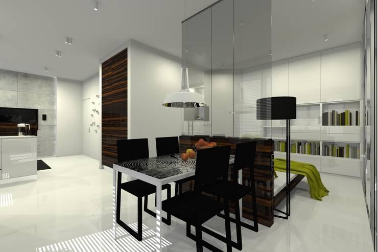 Mieszkanie prywatne – Warszawa Powiśle.: styl , w kategorii Jadalnia zaprojektowany przez PR Architects Sp z o. o. Pala&Rodek
