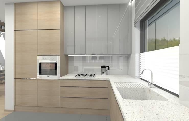 Dom jednorodzinny – Sosnowiec.: styl , w kategorii Kuchnia zaprojektowany przez PR Architects Sp z o. o. Pala&Rodek