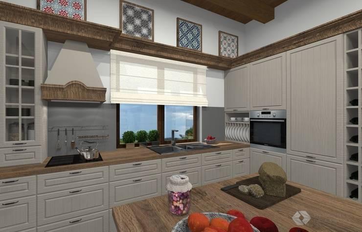 Dom jednorodzinny – Zator.: styl , w kategorii Kuchnia zaprojektowany przez PR Architects Sp z o. o. Pala&Rodek