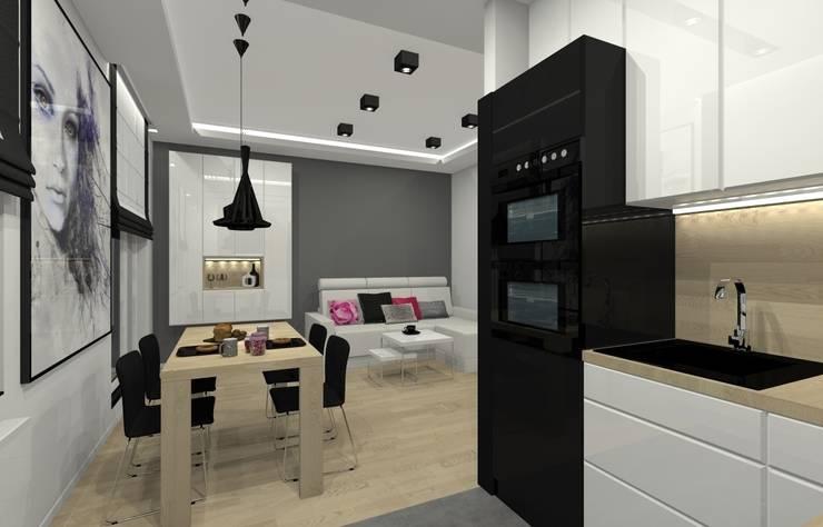 Mieszkanie prywatne – Chorzów.: styl , w kategorii Kuchnia zaprojektowany przez PR Architects Sp z o. o. Pala&Rodek