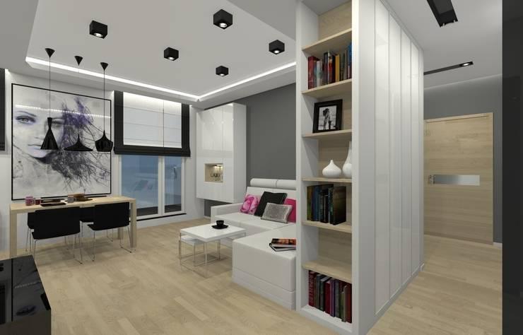Mieszkanie prywatne – Chorzów.: styl , w kategorii Salon zaprojektowany przez PR Architects Sp z o. o. Pala&Rodek