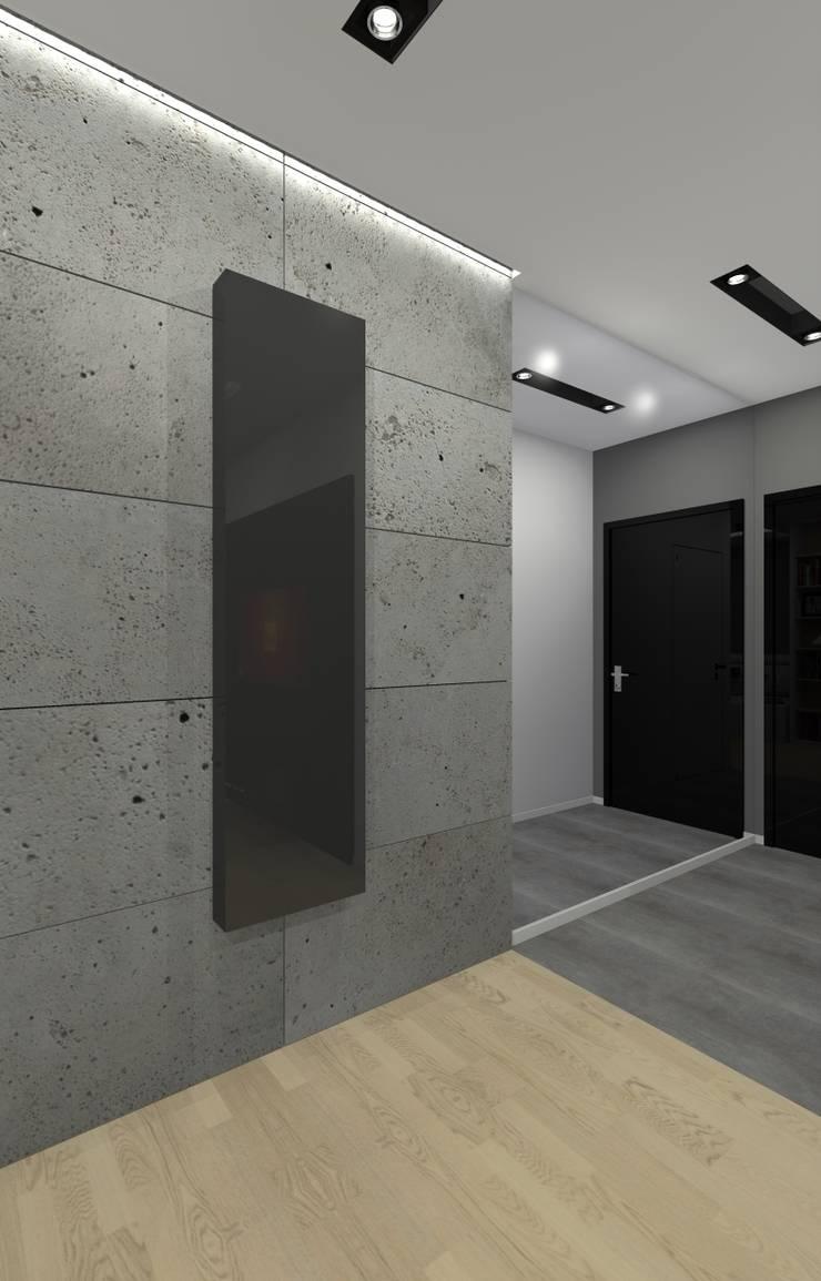 Mieszkanie prywatne – Chorzów.: styl , w kategorii Korytarz, przedpokój zaprojektowany przez PR Architects Sp z o. o. Pala&Rodek
