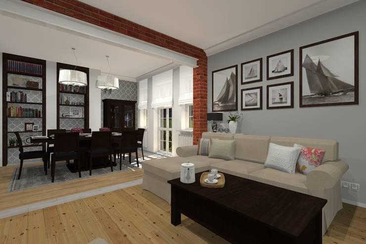 Mieszkanie prywatne - Bytom.: styl , w kategorii Salon zaprojektowany przez PR Architects Sp z o. o. Pala&Rodek
