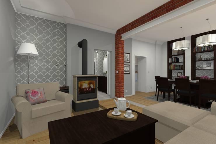 Mieszkanie prywatne – Bytom.: styl , w kategorii Salon zaprojektowany przez PR Architects Sp z o. o. Pala&Rodek