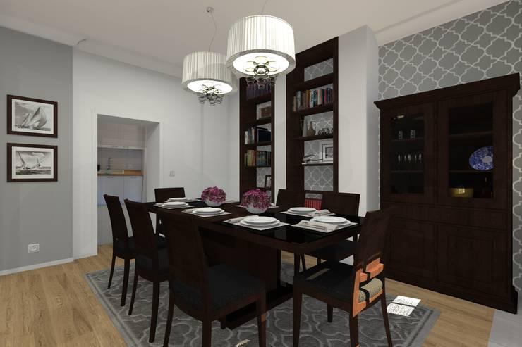 Mieszkanie prywatne – Bytom.: styl , w kategorii Jadalnia zaprojektowany przez PR Architects Sp z o. o. Pala&Rodek