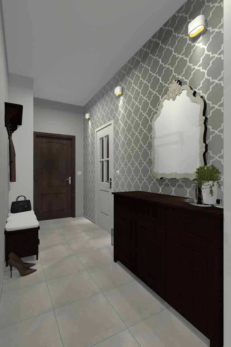 Mieszkanie prywatne – Bytom.: styl , w kategorii Korytarz, przedpokój zaprojektowany przez PR Architects Sp z o. o. Pala&Rodek