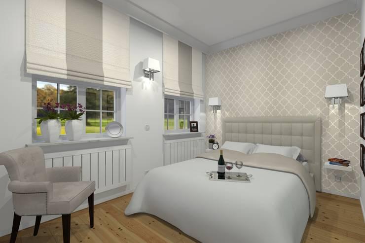 Mieszkanie prywatne – Bytom.: styl , w kategorii Sypialnia zaprojektowany przez PR Architects Sp z o. o. Pala&Rodek