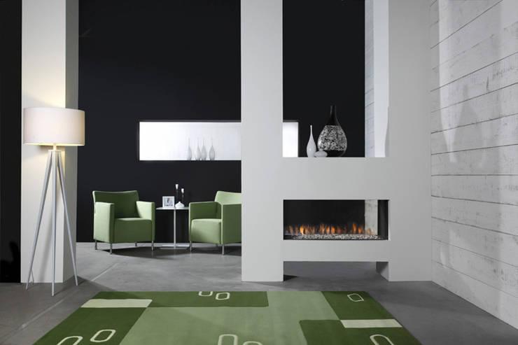 Kominek gazowy Kwline Aspect ST L: styl , w kategorii Salon zaprojektowany przez TAPIS.PL,Nowoczesny