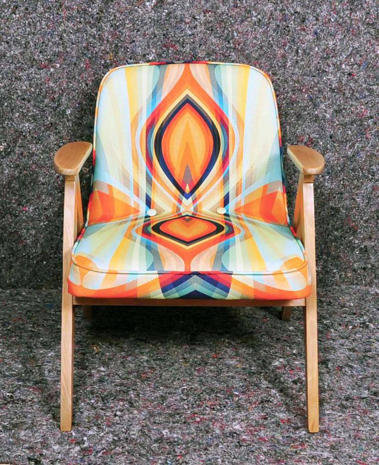fotel z prl-u (bliss): styl , w kategorii Salon zaprojektowany przez Pracownia Reborn