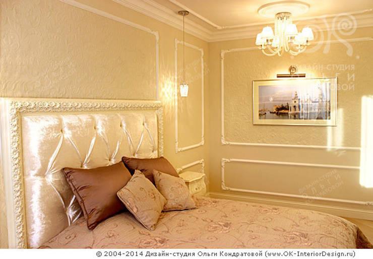 Фото интерьера спальни в квартире: Спальни в . Автор – Дизайн студия Ольги Кондратовой, Классический