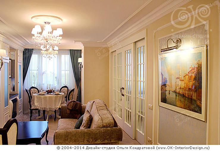 Фото интерьера гостиной-столовой в квартире: Гостиная в . Автор – Дизайн студия Ольги Кондратовой, Классический