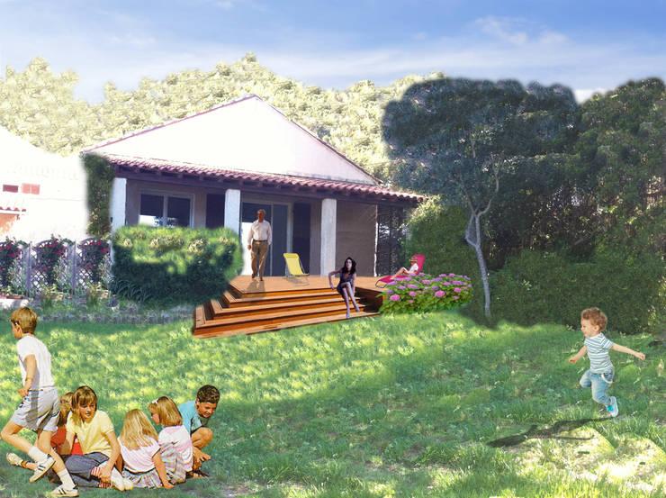 Proposition et visuel du projet d'extension de terasse: Terrasse de style  par In&Out Garden