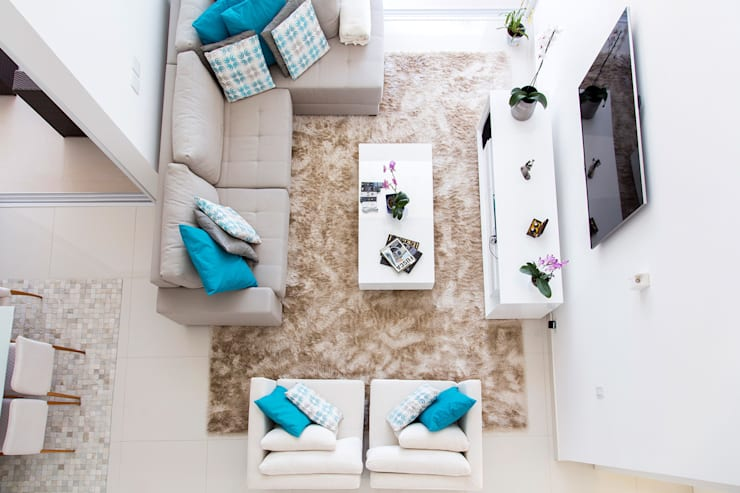 Salon de style de style Moderne par SAA_SHIEH ARQUITETOS ASSOCIADOS