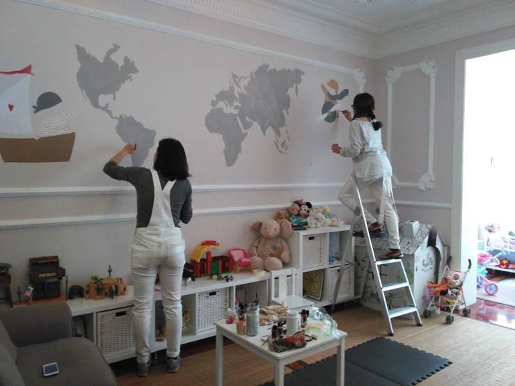 Mural infantil mapamundi: Dormitorios infantiles de estilo  de info6104