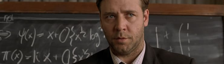 Russell Crowe as John Nash in 'A Beautiful Mind':   by MZO TARR Architects
