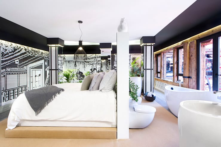 Kazuo Suite- Casa Decor 2015: Dormitorios de estilo  de Egue y Seta