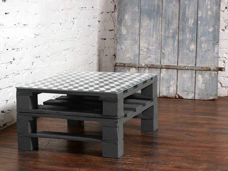 Stolik kawowy Chevron grafit/ Chevron graphite coffee table 60x80: styl , w kategorii  zaprojektowany przez Tailormade Furniture,Nowoczesny