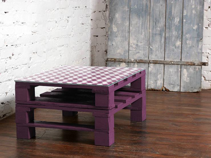 Stolik kawowy Chevron lawenda/ Chevron lavender coffee table 60x80: styl , w kategorii Salon zaprojektowany przez Tailormade Furniture