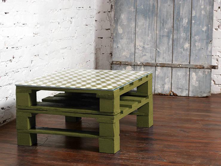 Stolik kawowy Chevron oliwka/ Chevron olive coffee table 60x80: styl , w kategorii Salon zaprojektowany przez Tailormade Furniture