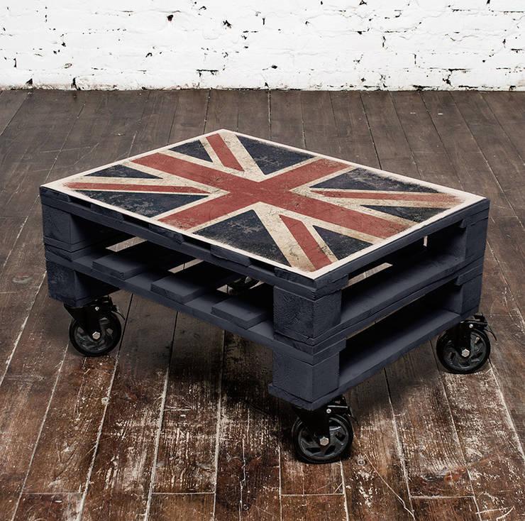 Stolik kawowy Union Jack/ Union Jack coffee table 60x80: styl , w kategorii Salon zaprojektowany przez Tailormade Furniture