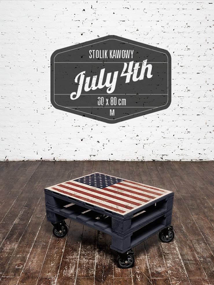 Stolik kawowy July 4th/ July 4th coffee table 60x80: styl , w kategorii Salon zaprojektowany przez Tailormade Furniture