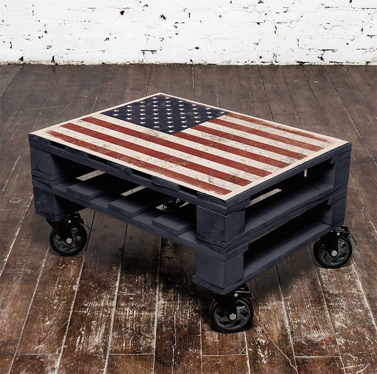 Stolik kawowy July 4th/ July 4th coffee table 60x80: styl , w kategorii  zaprojektowany przez Tailormade Furniture,Industrialny