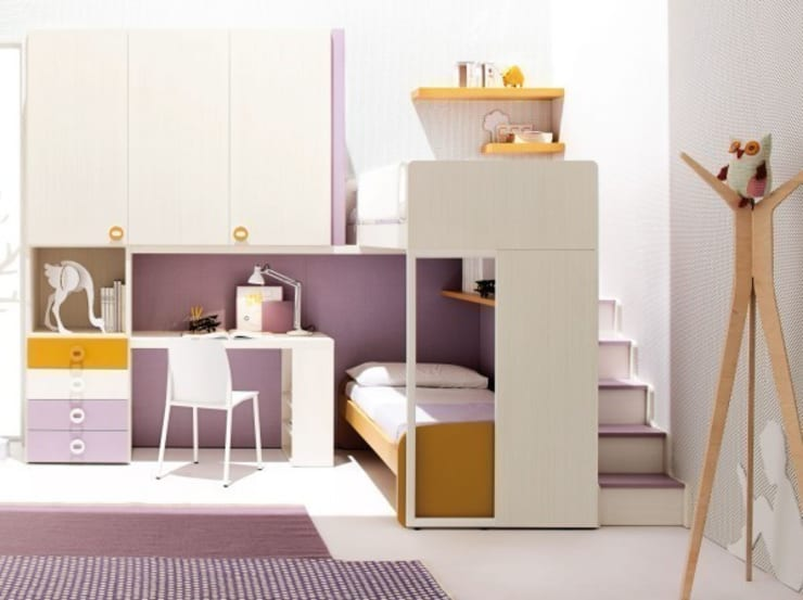 'Pink' Contemporary girls bedroom furniture set by Clever:  Nursery/kid's room by My Italian Living