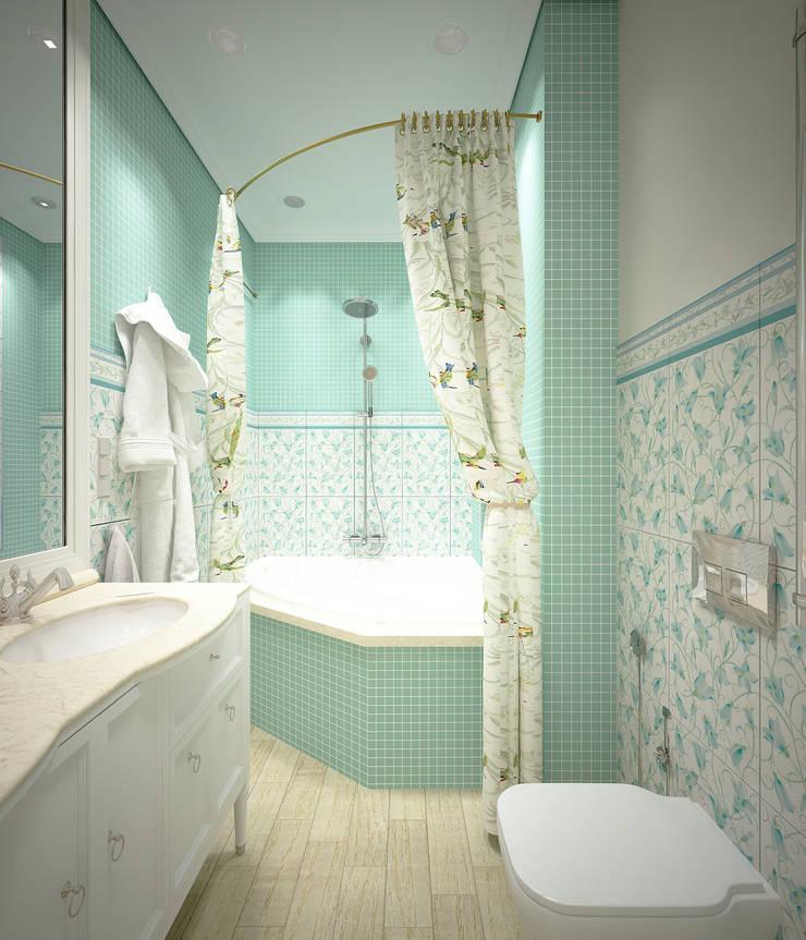 Дизайн-проект 3-й квартиры: Ванные комнаты в . Автор – Лилия Панкова