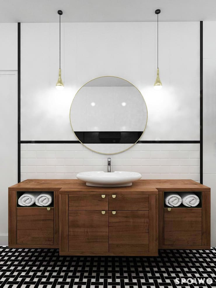 Łazienka klasyczna: styl , w kategorii Łazienka zaprojektowany przez SPOIWO studio