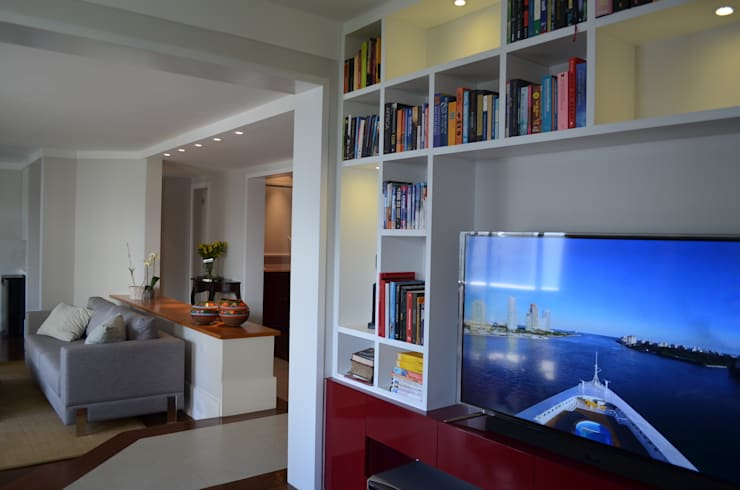 Home Theater: Salas de estar  por Compondo Arquitetura,Moderno