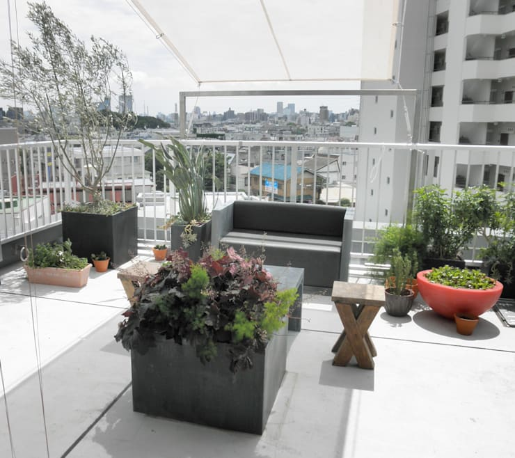 庭院 by ティー・ケー・ワークショップ一級建築士事務所, 北歐風