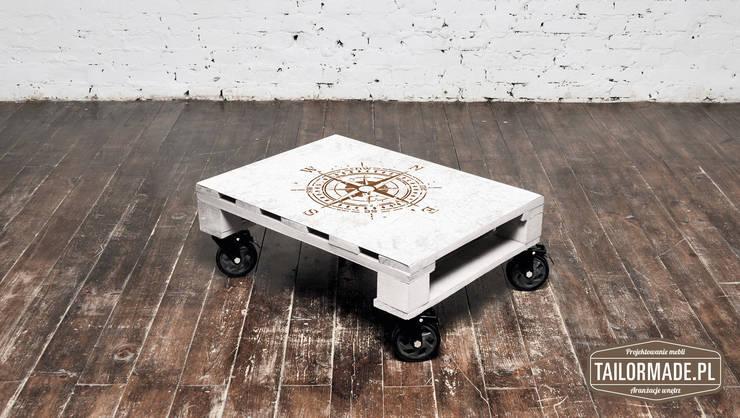 Stolik kawowy Róża Wiatrów/ Wind Rose coffee table 60x80: styl , w kategorii Salon zaprojektowany przez Tailormade Furniture