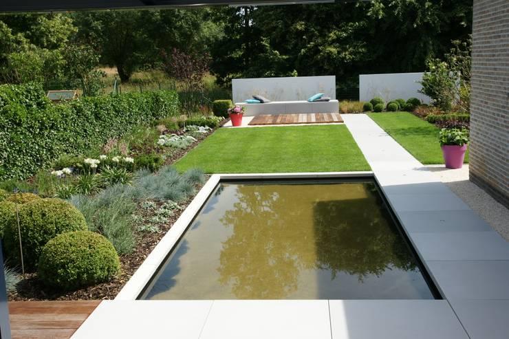 Lounge tuin:  Tuin door Tuinarchitectengroep ECO, Modern
