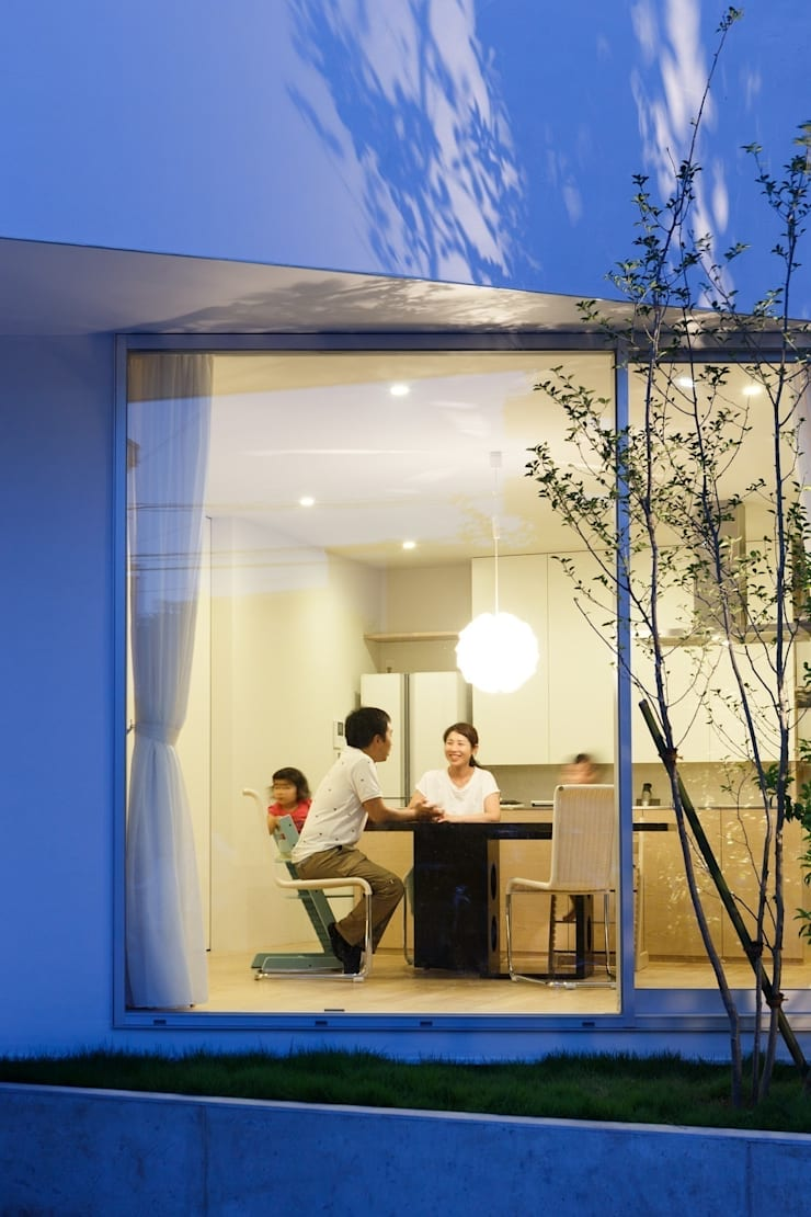 sha-la 外観: e do design 一級建築士事務所が手掛けた家です。
