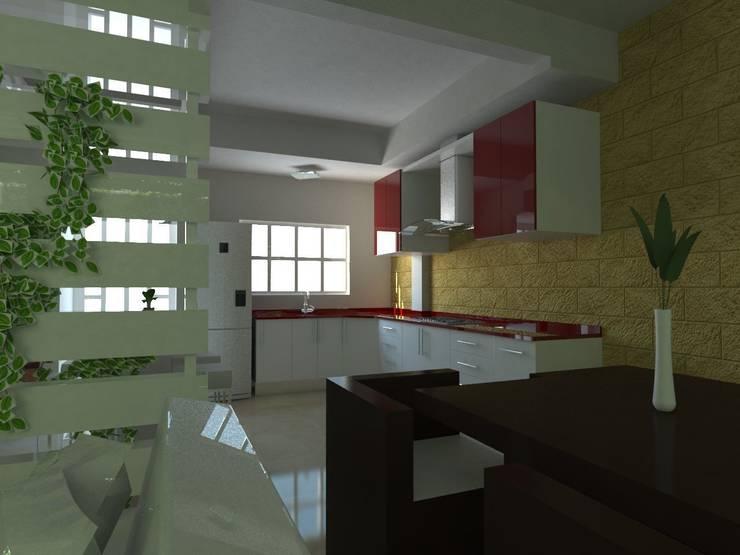 Proyecto de Remodelacion Depto. Lazaro Cardenas, Mich.: Cocinas de estilo  por JRK Diseño - Studio Arquitectura
