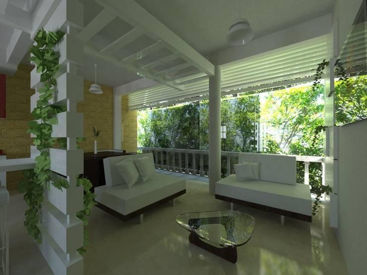 Proyecto de Remodelacion Depto. Lazaro Cardenas, Mich.: Salas de estilo  por JRK Diseño - Studio Arquitectura