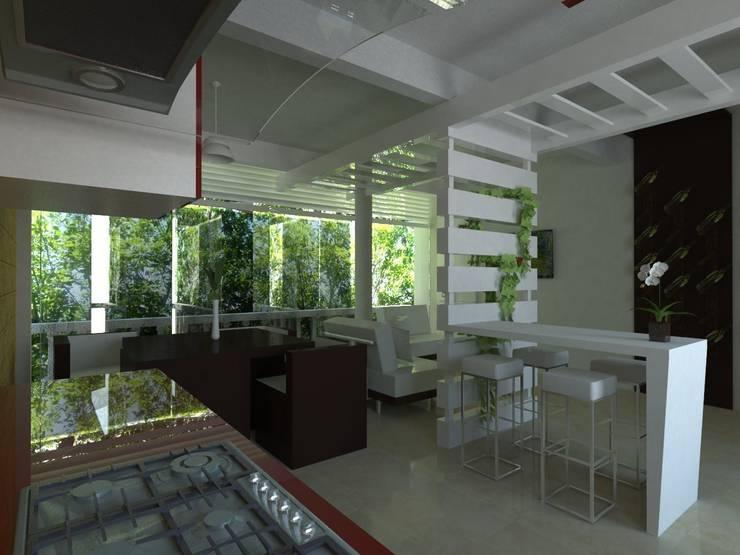 Cozinhas  por JRK Diseño - Studio Arquitectura
