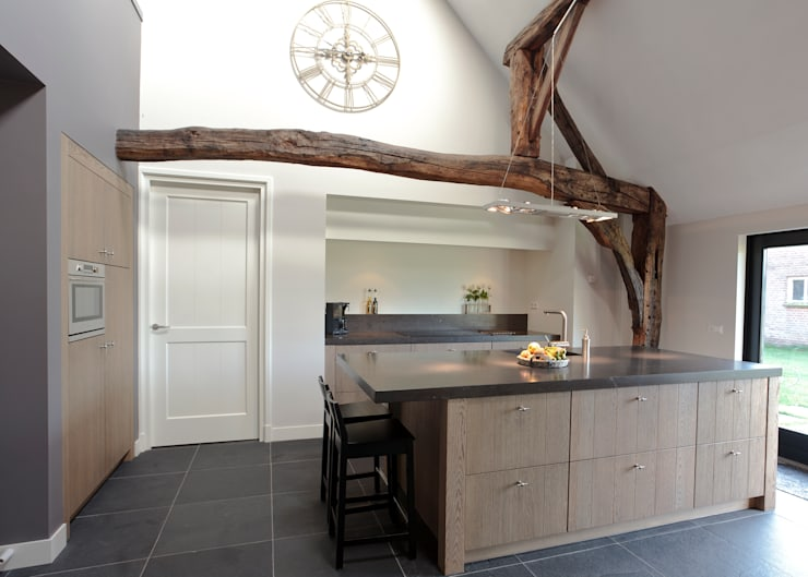 Eiken Design:  Keuken door Thijs van de Wouw keuken- en interieurbouw