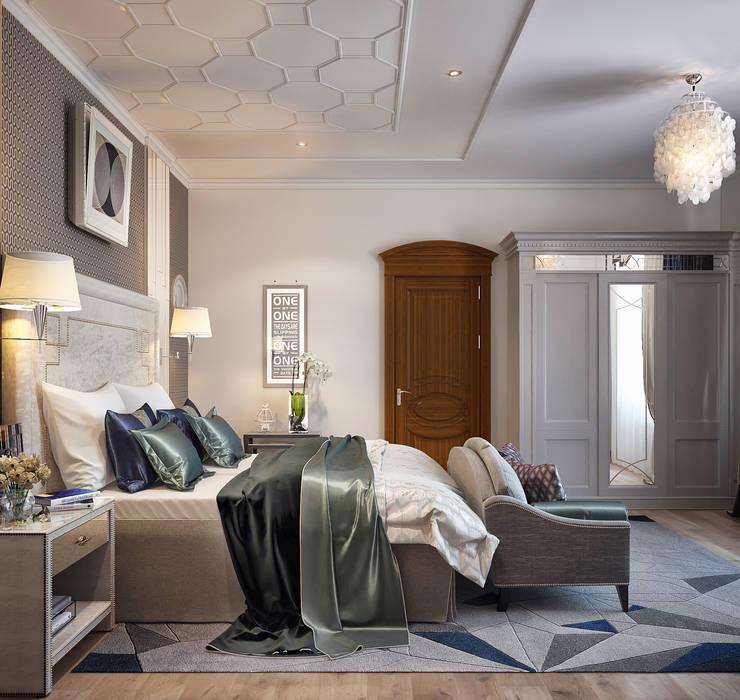 Спальня в стиле Ар-деко: Спальни в . Автор – Sweet Home Design