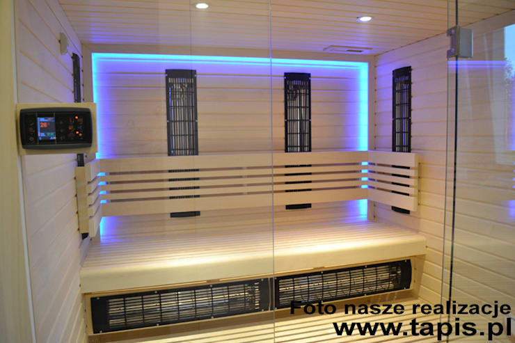 Sauna Klementyna TAPIS DESIGN: styl , w kategorii  zaprojektowany przez TAPIS.PL,Nowoczesny