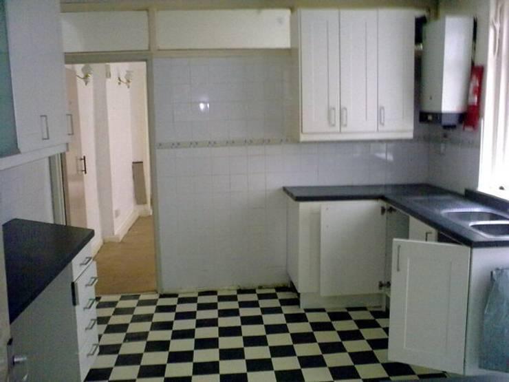 Kitchen before:   by Ben Jurin Architecture Ltd