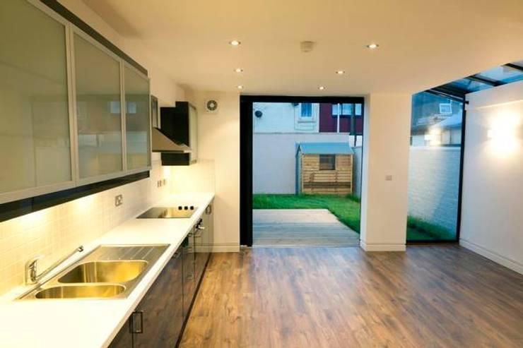 Kitchen after:   by Ben Jurin Architecture Ltd