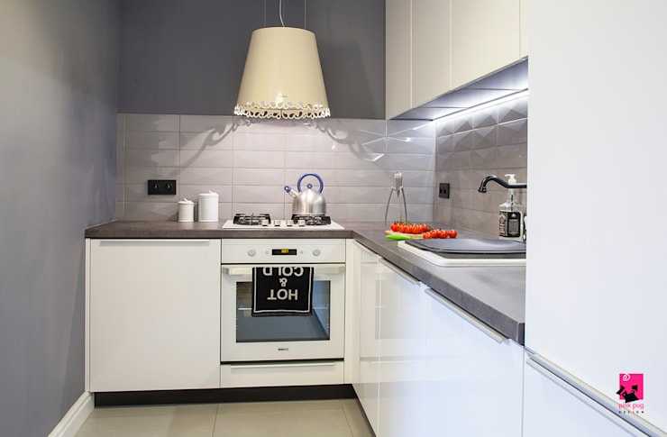 Cocinas de estilo ecléctico por Pink Pug Design Interior