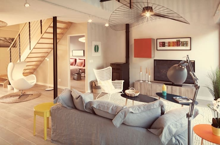 Confidentiel: Salon de style  par Ludlow Interior