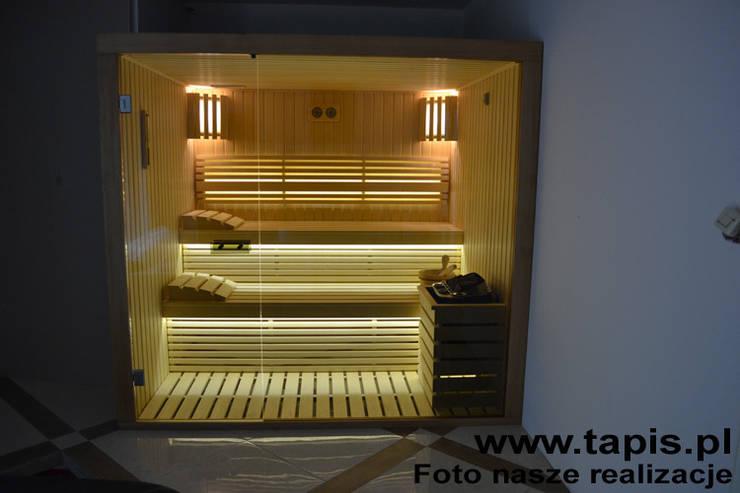 Kreacja saunowa TAPIS DESIGN: styl , w kategorii  zaprojektowany przez TAPIS.PL,Nowoczesny