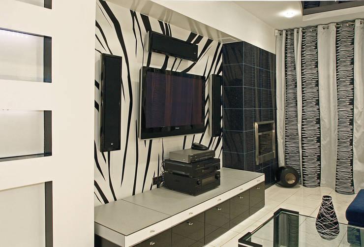 квартира 96 м.кв.: Гостиная в . Автор – Соловьева Мария
