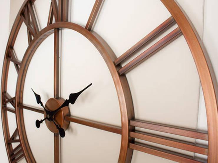 Otantik Çarşı – Eskitme Metal Duvar Saati Bakır Renk:  tarz Duvar & Zemin