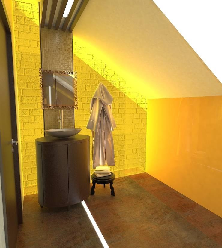 Коттедж в кп <q>Серебряный бор</q>: Ванные комнаты в . Автор – Галина Глебова,