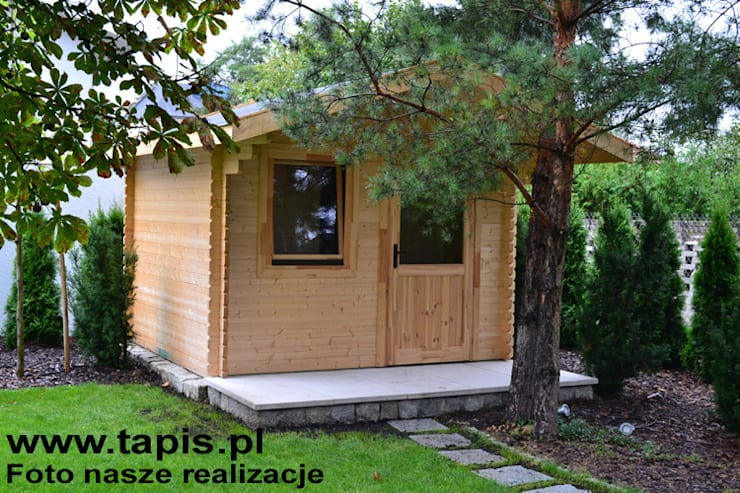 Sauna ogrodowa Orion: styl , w kategorii Ogród zaprojektowany przez TAPIS.PL,Nowoczesny