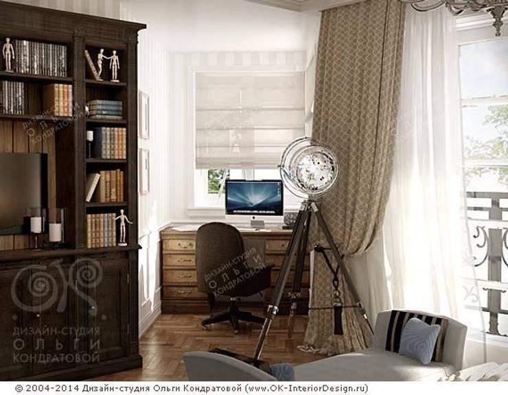 Небольшой кабинет: Рабочие кабинеты в . Автор – Дизайн студия Ольги Кондратовой